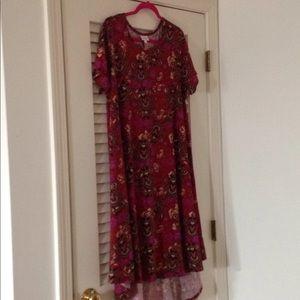Gently worn Lularoe Carly Xl, warm, vibrant colors